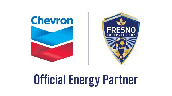 Chevron and Fresno FC logos - Official Partners