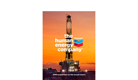 2019 Supplement to the Chevron Annual Report