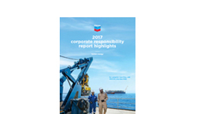 2017 Chevron Corporate Responsibility Report Cover